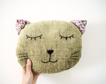 Cat Pillow Decorative Pillow Cat Cushion Pet Pillow Throw Pillow Kitty Pillow Cat Lover Gift Home Decor Animal Pillow Cat Decor Stuffed Cat
