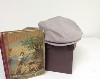 Sepia Tan oval golfers beret, newsboy hat for little boys