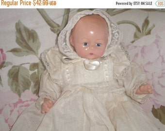 """SUMMER SALE Vintage 10"""" Horsman Baby Doll, Baby Girl, Doll Collector"""