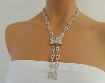 Weddings Necklace Rhinestone