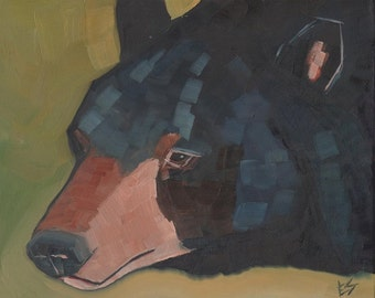 Bear Original Oil Painting