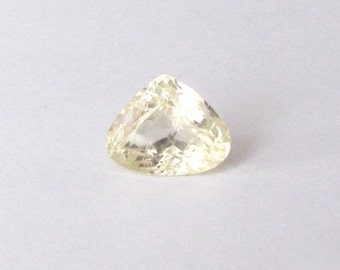 Natural Yellow Kunzite, Unheated, Pear Cut, 11.36 carats