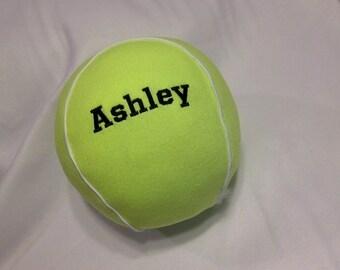 Plush Tennis Ball with Name