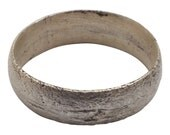 Ancient Viking Wedding Ring Silver over bronze  C.900A.D. Size 10  (19.4mm) [PWR1058]