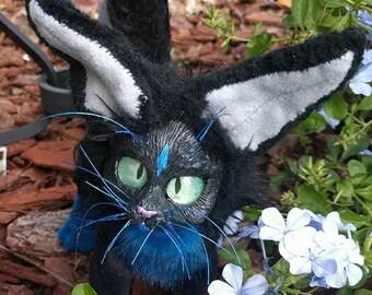 Blue Tuxedo Kitty Posable Art Doll