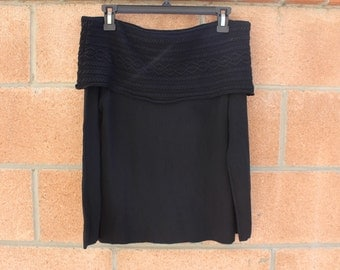 Firm material off the shoulder vintage top size small