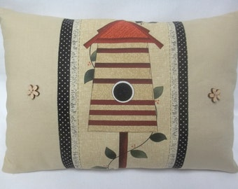 Birdhouse Pillow