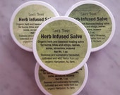 Herbal Rescue Green Salve Ointment 1 Oz. Widemouth Jar from Organic Farmer and Beekeeper