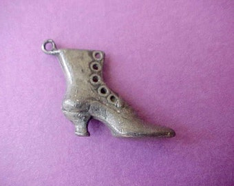 Little Vintage High Button Shoe Charm or Finding