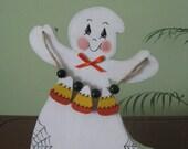 Ghost, halloween, candy corn, shelf sitter, decoration, holidays