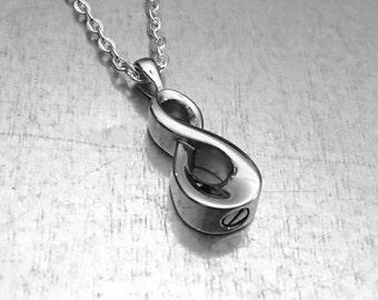 Cremation Necklace, Infinity Urn, Urn Locket, Ashes Holder Necklace, Cremation Locket, Memory Locket, Cremation Jewelry