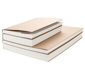 Sketchbook, Blank journal, Notebook, Diary, A5, B5, White and Craft Papers, Simple Classic Design, Vintage, Large Sketchbook, Gift