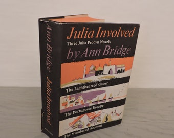 Vintage Mystery Novels - Julia Involved: Three Julia Probyn Novels - First Edition - 1962 - Spy Novels - Adventure