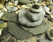 Natural Beach Stone Stack 5 Ocean Rocks Slate Zen Stones Heart Shaped Rocks Zen Decor Meditation Gifts Rock Art Garden Stones Yoga Sculpture