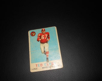 1959 CFL Topps Football Ted Elsby card Montreal Alouttes