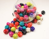 30 % SALE Felt Balls, Wool Felt, 2-2.3 cm, Felt Ball Garland, Pom Pom, Kids Room, Christmas Tree Decor, Button, Hand Stitched Embroidery