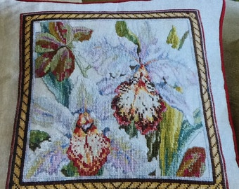 P- ORCHID TAPESTRY PILLOW - Cross Stitch Pattern Only