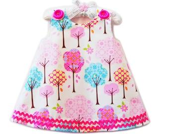 Sweet Little Things - Girl Dress - Baby Dress - Pink - Family Photos - Kids Fashion - Natural Dress  - KK Children Designs