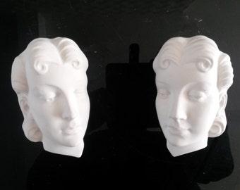 Hand made Art Deco Faces