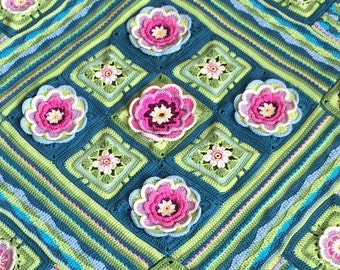 Crochet Lily Pond Blanket/Throw