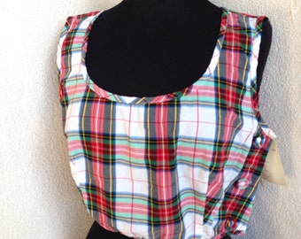 Sale Vintage funky grunge crop top plaid by French Connection NWT sz M/L