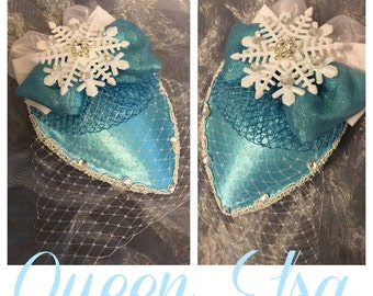 Elsa from Frozen Inspired Fascinator