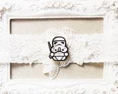 Star Wars Bridal Garter Wedding Garter - Keepsake Garter Lace Garter Geek Nerd Garter Belt