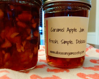 Caramel Apple Jam    Delicious Spread,Ice cream or pancake topping!  Christmas gift!