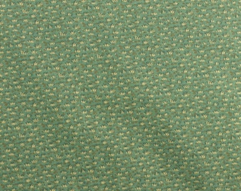 Cotton Quilting Fabric Green Grass Fabric Tiny Print Fabric Nature Fabric - 1 Yard - CFL1478