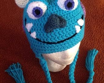 JP Sullivan Monsters Inc Inspired Crochet Hat