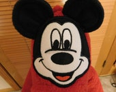Infant Mickey Hooded Towel Set with 2 burp cloths and 2 washcloths - Free Personalization