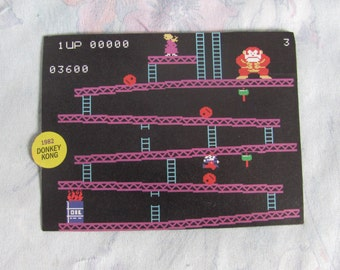 Nintendo Donkey Kong Screen Shot Magnet - Handmade, Homemade Video Game Fridge Magnet
