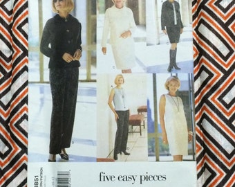 Vogue Pattern / Vogue Jacket Pattern  / Vogue Dress Pattern / Vogue Top / Vogue Skirt Pattern / Vogue Pants Pattern  / UNCUT / Vogue 1851