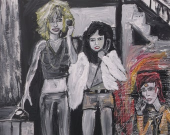 Dream Phone Painting by Charlie McComber David Bowie Lori Maddox Sable Starr