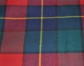 Kilgour Modern Tartan Fabric. 100% 10oz Pure New Wool. Large Remnant Piece.