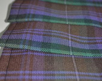 Baby Kilt, 12-18m in Isle of Skye tartan, Poly viscose, Machine Washable. Handmade in Scotland