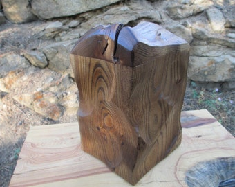 Natural Wood, Sculpted Urn,Memorial Keepsake