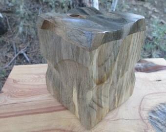 Beetle Kill Pine Sculpted Wood Urn/ Memorial Keepsake / Pet Urn