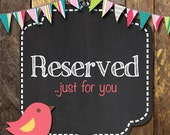 Reserved for Corinne