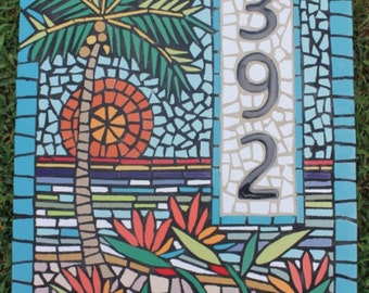 mosaic house numbers | etsy
