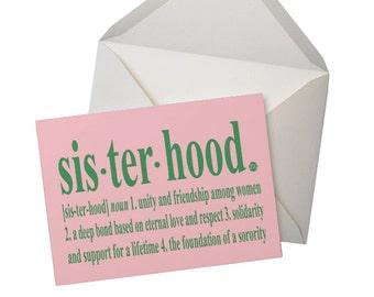 Sorority Inspired Sisterhood Note Cards (5 pack) - PINK