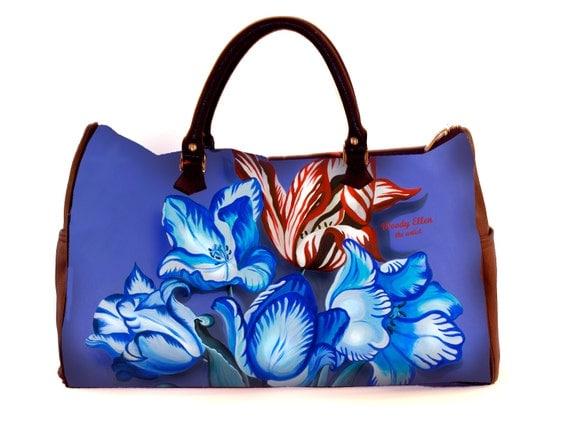 Travel bag,Porcelain,weekend bag,birthday gift,gifts for her,gifts for mom,Woody Ellen handbag,christmas gifts,christmas gift ideas,gifts
