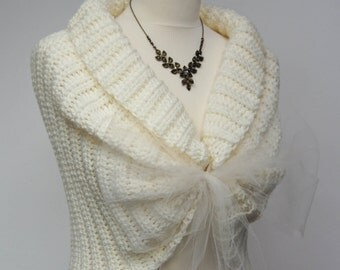 Ivory Bridal Jacket, Wedding Crochet Bolero, Shrugs for Brides, Bridal Bolero, Lace Wedding Shrug, Bridal Lace Top, Romantic Wedding Shawl