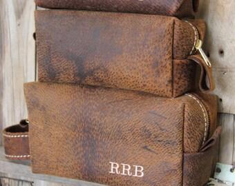 Custom Groomsmen Gift, Leather Dopp Kit, Leather Shaving Kit, Leather Toiletry Bag, Mens Toiletry Bag, Lifetime Leather Co, Wedding Gifts #1