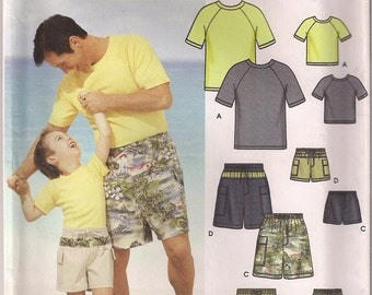 Simplicity Sewing Pattern 5976 - Boys' and Men's Shorts and Knit Top (S-L/S-XL)