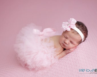 TUTU AND HEADBAND Set, Many Colors available, Pink Tutu and Headband, Newborn Tutu, Baby Tutu, Pink Tutu, Newborn Photo Prop, Photo Prop