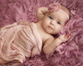 ROSE BABY Headband, Newborn Headband, Shabby Chic, Newborn Baby, Headbands, Infant Headbands, Headbands for Babies, Headband for Baby
