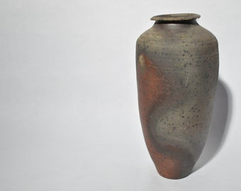 Wood Fired Vessel With Swooping Red Iron Run