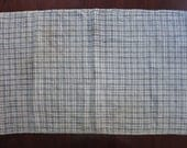 Antique Blue and White plaid homespun towel or covering