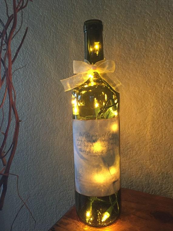 Wine Bottle Light Home Decor Recycled Wine